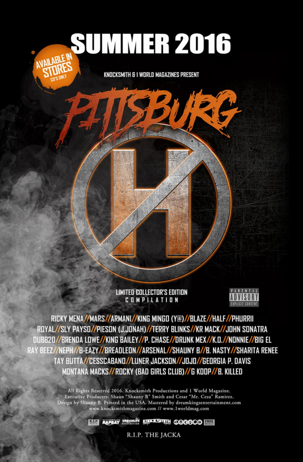 Pittsburg.... Pittsburg CA .....the one with NO H has found unity. Unlike other major cities, well known in the hip-hop industry pittsburg california has yet to really unite until now... The release of Pittsburg No H sparked some controversey but ultimately has brought the city together to focus on the great talent of its artist.