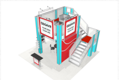 20 x 20 double deck trade show exhibits available for purchase.