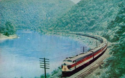 "The Erie Lackawanna ""Phoebe Snow"" passenger train."