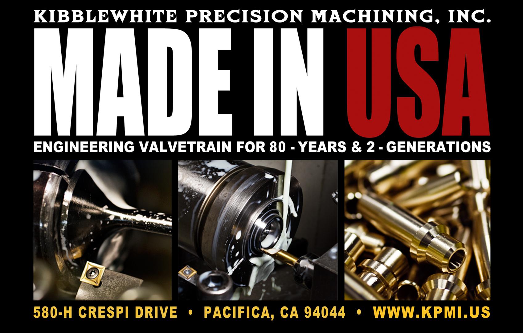 Kibblewhite Precision Machining, inc - Motorcycle Valvetrain