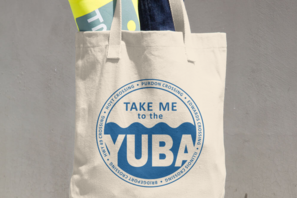 canvas tote bag - take me to the yuba