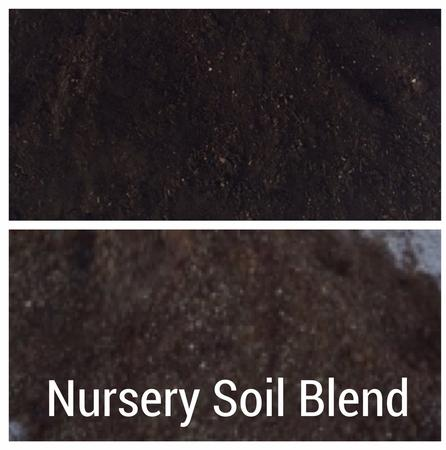 Nursery soil blend for ornamental potted plants