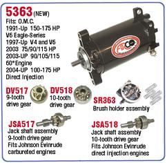 AR 5363 Starter for Johnson and Evinrude outboard motor