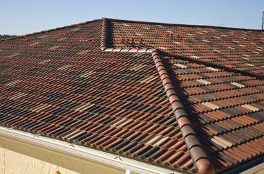 Concrete tile roof job in Houston; Houston roof contractor