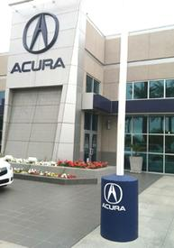 Beautify your dealership with your logo on a light pole base cover.