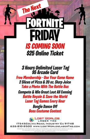 Win A Dance Battle Fortnite Special Events At Lost Worlds Laser Tag