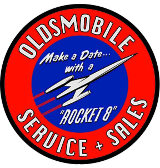 Oldsmobile logo and link