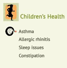 Children's health, Asthma, Allergic rhinitis, Sleep issues, Constipation at Ondol Clinic, Toowong