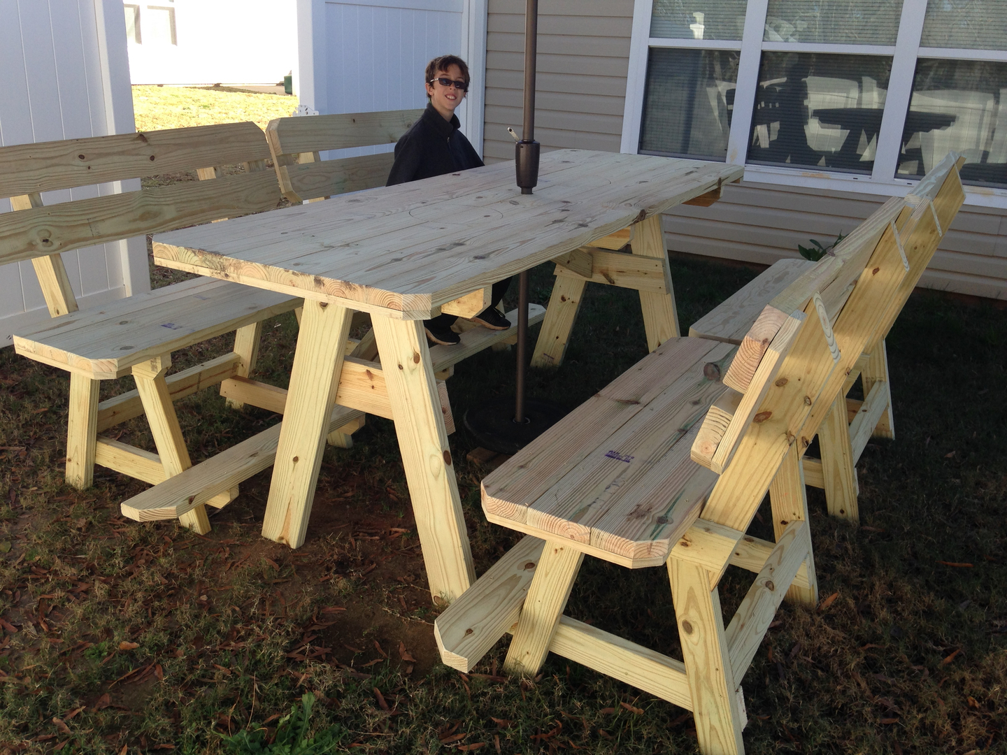 Greatest Picnic Table, Oyster Table, Big Green Egg table, Custom Furniture NL61