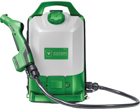 backpack electrostatic sprayer.