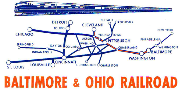 Route Map of the Cleveland Night Express.