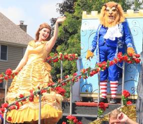 Beauty And The Beast style Parade walkers/ Characters