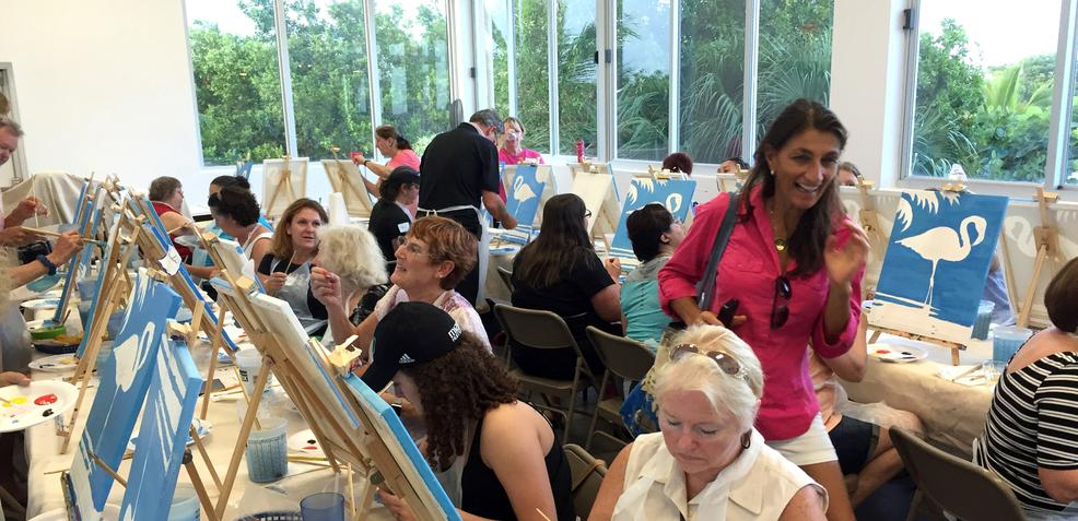 Art For Good Paint Party in South Miami Dade Florida