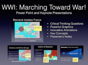 WWI Marching Toward War History Presentation