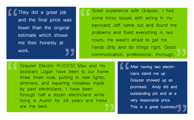 Austin Electrician - Grayzer Electric - Licensed Austin Electrician - Licensed Master Electrician - Top Rated Austin Electrician