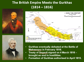 The British Empire meets the Gurkhas for the first time