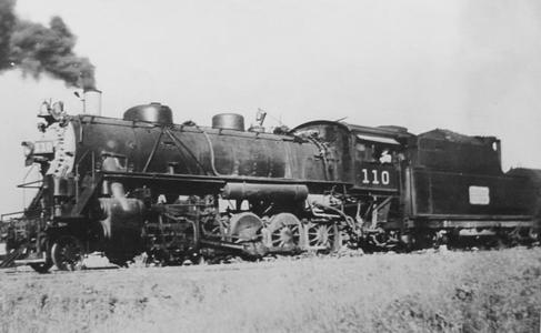 Locomotive No. 110 operated by the Muskogee Lines.