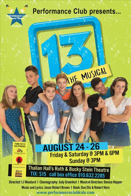 13 the musical, childrens theater, theater for young audiences, performance club kids