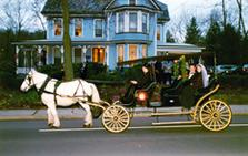 Wedgwood Inn Bed & Breakfast, New Hope PA - Horse and Carriage in front of the Inn. Special Services arranged for guests