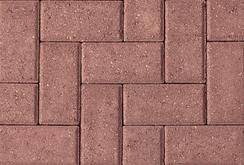 Unilock Concrete Hollandstone Paver in Color Red