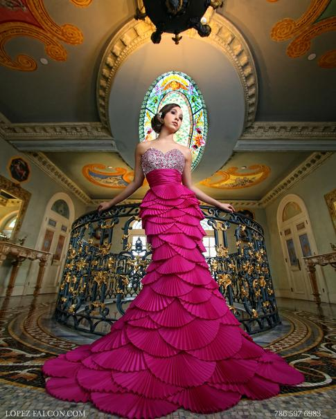 QUINCEANERA DRESSES MIAMI QUINCE PHOTOGRAPHY VERSACE MANSION VILLA CASA CASUARINA QUINCES DRESS