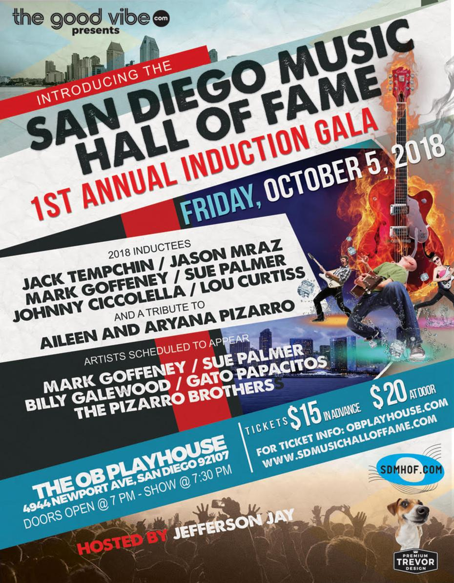 Order tickets to San Diego Music Hall of Fame at the OB Playhouse.