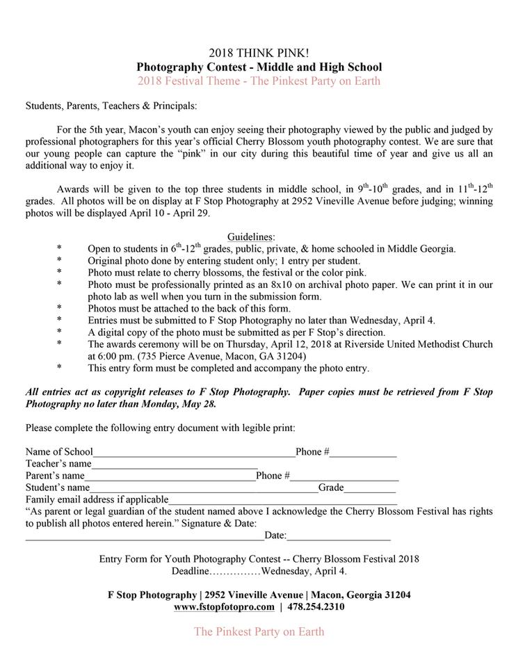 Photo Contest Rules & Entry Form