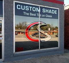 Custom Shade Window Tinting store front graphic in Springfield, MO