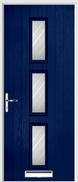 3 Square Composite Door stripes glass