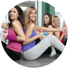 A qualified Small Group Trainer, I give personal training for groups of up to 5 people.