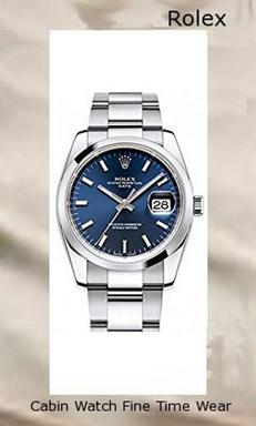 Rolex Date 34mm Blue Dial Stainless Steel Men's Watch 115200,rolex yacht master