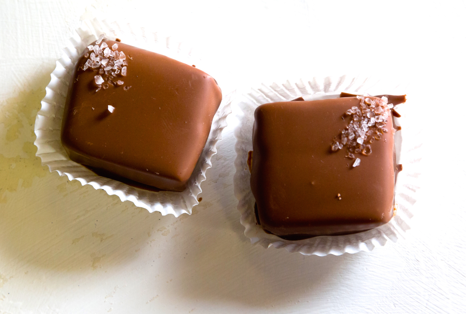 Dark Chocolate Sea Salt Caramel Truffles at the Chocolate Cow in Sonoma