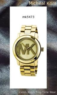Watch Information Brand, Seller, or Collection Name Michael Kors Model number MK5473 Part Number MK5473 Model Year 2011 Item Shape Round Dial window material type Mineral Display Type Analog Clasp Fold-Over Clasp with Double Push-Button Safety Metal stamp None Case material Stainless steel Case diameter 45 millimeters Case Thickness 14 millimeters Band Material Stainless steel Band length Women's Standard Band width 24 millimeters Band Color Gold Dial color Beige Bezel material Stainless steel Bezel function Unidirectional Calendar None Special features Luminous, Second hand Item weight 2 Pounds Movement Analog quartz Water resistant depth 330 Feet,michael kors watch
