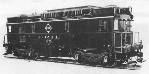 The Erie Railroad's GE-Ingersoll Rand diesel-electric locomotive with road number 25 completed in April 1931.