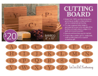 LaTeeDa Cutting Boards Fundraiser Idea