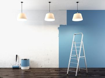 blue interior wall paint