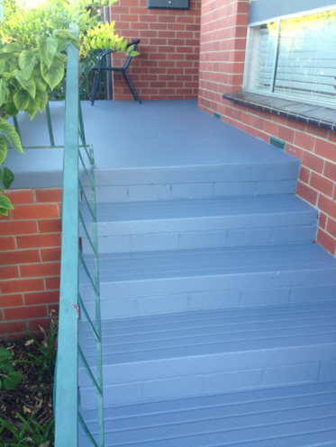 exterior stair painting