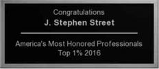 J Stephen Street Top 1% Honored Professional