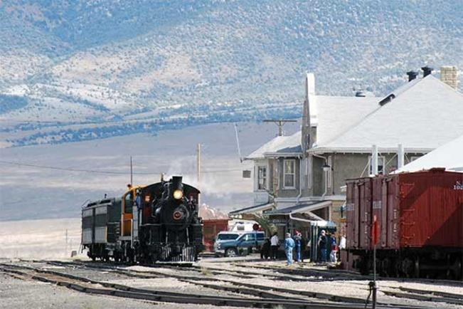 Passenger train at the Nevada Northern Railway Museum's East Ely depot, September 29, 2007.