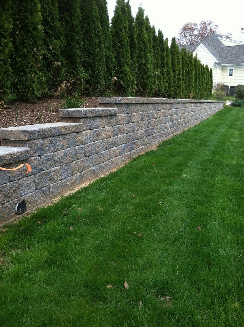 autumn hill patio u0026 landscaping retaining wall installation
