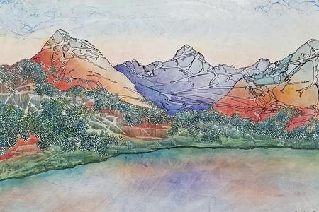 The Natural Accents Gallery of Taos, Featuring the works of Mixed Media Artist Sandy Applegate