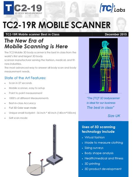 Mobile Body Scanner Brochure 3d Scanning Technology