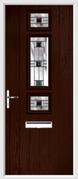 3 Square Strip Composite Door aspen glass