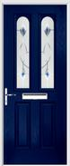 2 Panel 2 Arch Composite Door fusion art glass