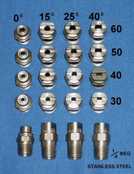 softwash nozzles, 8 gpm nozzles, roof cleaning nozzles