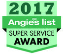 2017 Angie's List Super Service award badge
