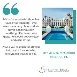 Easy Escapes Travel: Client Vacation Experiences & Testimonials