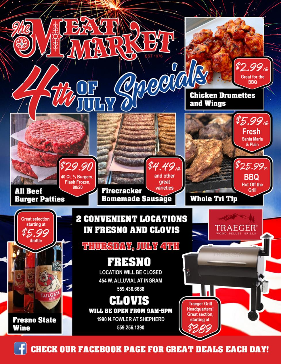 Weekly Specials for The Meat Market