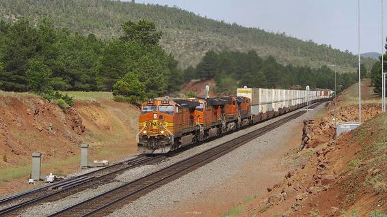 Eastbound at Williams Junction, Arizona.