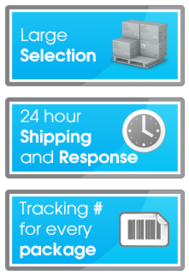 Large Selection - 24 hour Shipping and Response Tracking # for every package